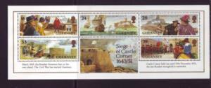 Guernsey Sc 519a 1993 Castle Cornet Siege stamp sheet mint NH