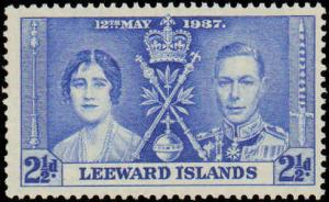 1937 Leeward Islands #100-102, Complete Set(3), Never Hinged