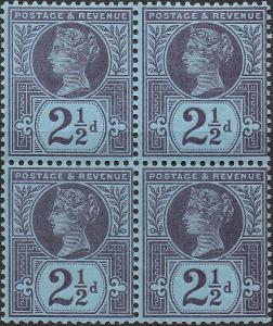 Victoria SG201/Sc114 1887 21/2d Purple/Blue --- UNMOUNTED Mint OG
