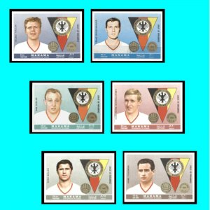 Football Beckenbauer Ajman Manama 1969 German Players Mi 141-146 Impf €10.00