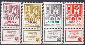Israel #876-9  MNH With Tabs CV $4.50 (V4531)