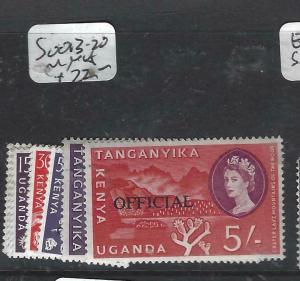 KENYA, UGANDA, TANGANYIKA   (P3105B)  QEII OFFICIAL  SG O13-20   MNH