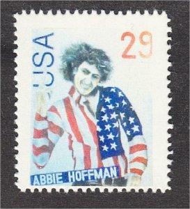 Abbie Hoffman in U.S. Flag Shirt Fantasy Stamp Artistamp by F.I.R.E. 1994