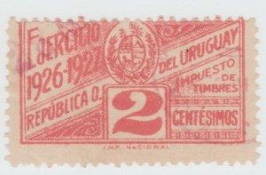 Uruguay Revenue Fiscal stamp 9-25-21 -- Ejercicio