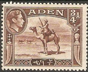 Aden 1939 Scott 17 King George VI & Camel Corpsman MLH