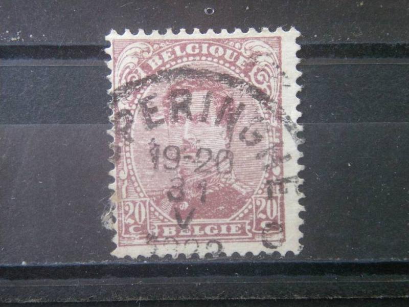 BELGIUM, 1915, used 20c King Albert I,  Scott 114
