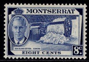 MONTSERRAT GVI SG129, 8c deep blue, M MINT.