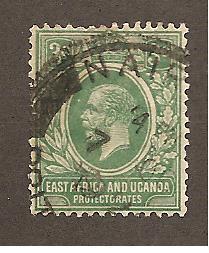 East Africa & Uganda   Scott #2  Used  Scott CV $12.00