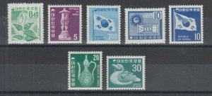 Korea Sc 635/648 MNH. 1969 Pictorials, 7 different from long set of 18, VF