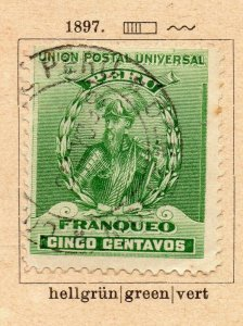 Peru 1896 Early Issue Fine Used 5c. NW-11680