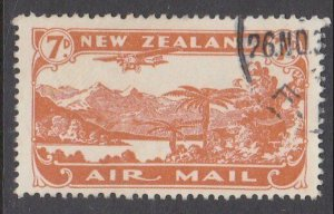 NEW ZEALAND 1931 7d airmail fine used - ACS cat NZ$30.......................M443