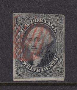 17 F-VF used neat Red cancel with nice color ! see pic !