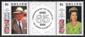 Belize# 969-70 ~ Cplt Set of 2 + Label (970a) ~ Unused, Very Light HM