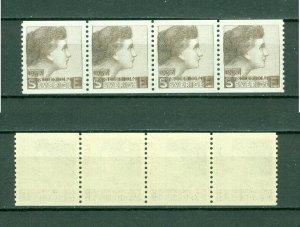 Sweden.Test/Proof,Essay Stamp 1937. 4-Row Mnh. Women's Face.Engraver Sven Ewert.