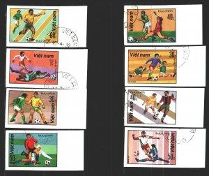 Vietnam. 1982. 1214u-21u. Football. USED.