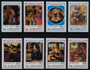 St Vincent 1288-97 Specimen o/p MNH Christmas, Paintings, Da Vinci, Botticelli