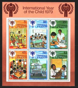Trinidad and Tobago. 1979. BL26. UNICEF children. MNH.