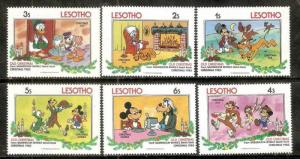 Lesotho Walt Disney Animation Cartoon Film Mickey Mouse Donald Duck Old Chris...