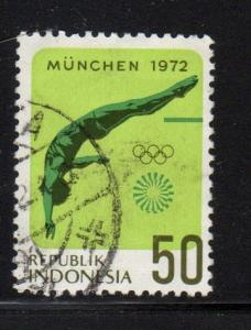 Indonesia - #825 Olympic Diving - Used