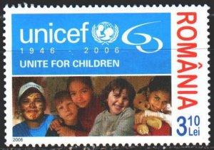 Romania. 2006. 6156. UNICEF children. MNH.