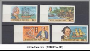 UPPER VOLTA - 1978 250th ANNIVERSARY OF BIRTH OF CAPTAIN COOK - 4V MNH IMPERF!!!