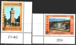 Guernsey. 1978. 161-62. Monuments, europe-sept. MNH.