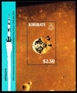 KIRIBATI STAMP APOLLO 11 $2.50   MNH S/S