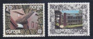Norway 905-06 MNH OG 1987 Modern Architecture EUROPA Set Very Fine