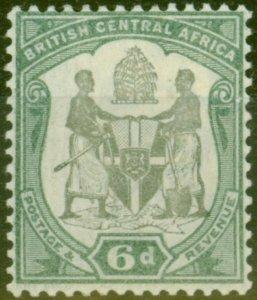 BCA Nyasaland 1897 6d Black & Green SG46 Fine Mtd Mint