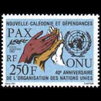 NEW CALEDONIA 1985 - Scott# C205 UN 40th. Set of 1 NH