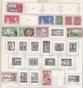 JAMAICA^^^^^1935-49 mint & used  on page  $$  @ ha664jam