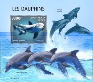 NIGER - 2019 - Dolphins - Perf Souv Sheet - MNH