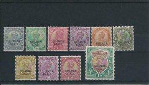 CHAMBA 1913 SET OF TEN MM SG 43/53 CAT £75