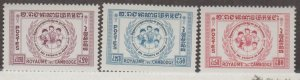 Cambodia Scott #71-72-73 Stamps - Mint NH Set