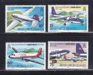 Virgin Islands 434-437 Set MNH Planes