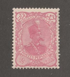 Persia Stamp, Scott# 114, mint hinged, 2Kran, Pink,  Perf 12.5 x 12.0,#L-60