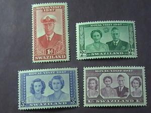 SWAZILAND # 44-47-MINT NEVER/HINGED--------GEOVI----1947