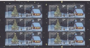 Greenland #423a Booklet Pane Used CV $30.00 (Z7590L)