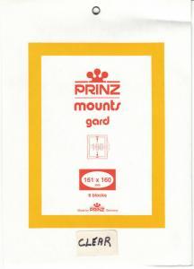PRINZ CLEAR MOUNTS 161X160 (6) RETAIL PRICE $10.50