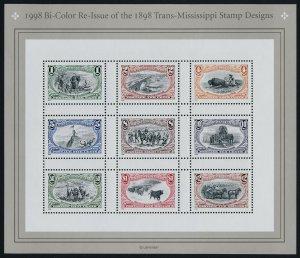 USA 3209-10 MNH Trans-Mississippi Stamps Centenary, Animals, Ships, Bridge