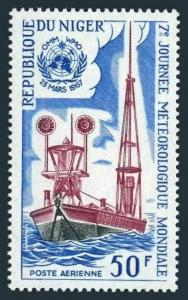 Niger C71,MNH.Michel 157. Maritime Weather Station.Meteorology,1967.