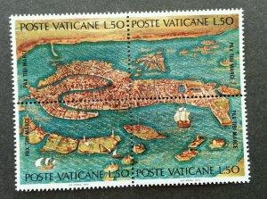 Vatican UNESCO Venice 1972 Ship Sailboat (stamp) MNH