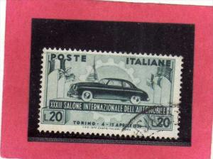 ITALY ITALIA REPUBBLICA 1951 XXXIII 33 SALONE AUTOMOBILISTICO DI TORINO 33TH ...