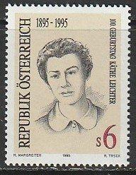 1995 Austria - Sc 1684 - MNH VF - 1 single - Kathe Leichter, Resistance Member