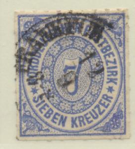 North German Confederation Stamp Scott #10, Used - Free U.S. Shipping, Free W...