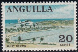 Anguilla 1967-68 MNH Sc #25 20c Sandy Ground, airplane