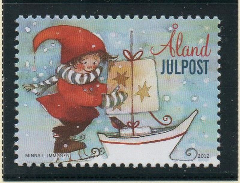 Aland Finland Sc 337 2012  Christmas stamp mint NH