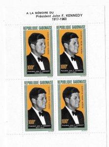 Gabon 1964 John F Kennedy Sheet Sc C27a MNH C4