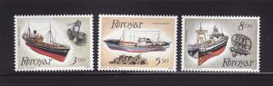 Faroe Islands 158-160 Set MNH Ships, Fishing Trawlers (A)