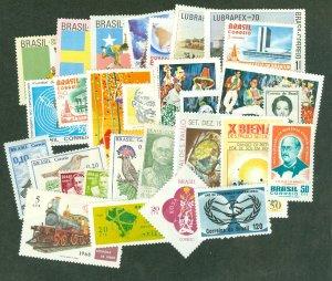 selection Brazil 1965-70 mint 27 different CV $35